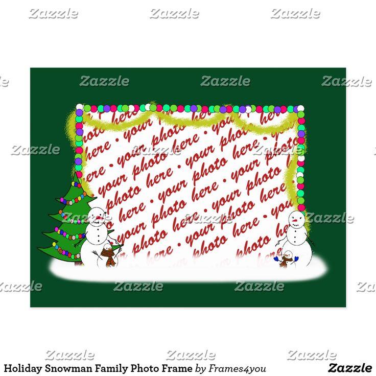 Holiday Snowman Family Photo Frame  Christmas Greeting Card ~ #ilovexmas #Gravityx9 #christmascard #i_love_xmas - #Addaphoto