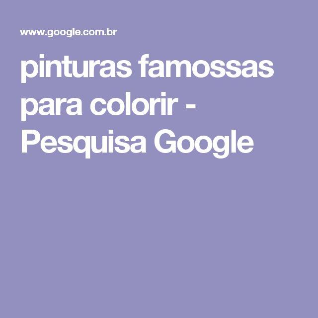 pinturas famossas para colorir - Pesquisa Google