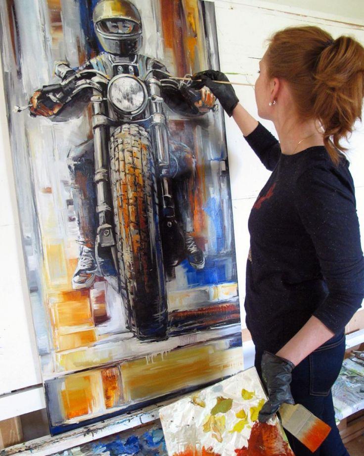 Badass Motorcycle Art by Kseniarts_k