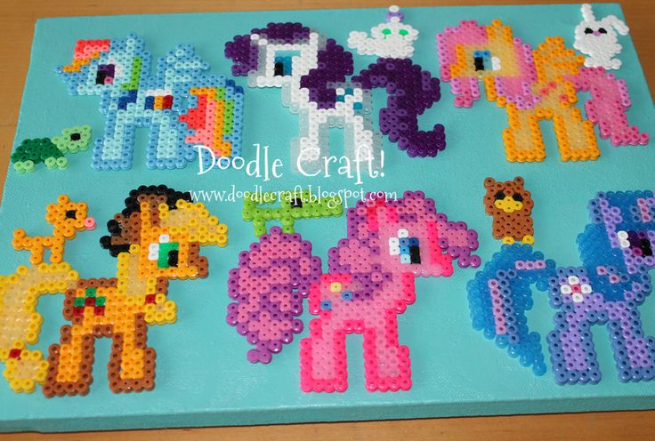 my little pony perler bead pattern | Doodle Craft...: My Little Pony Perler Bead Art! my nanny kids would LOVE this
