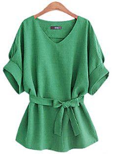 Women's V Neck ½ Length Sleeve Shirt