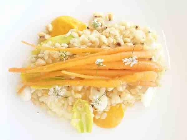 Quay Restaurant in Sydney - heirloom carrots, white lentils