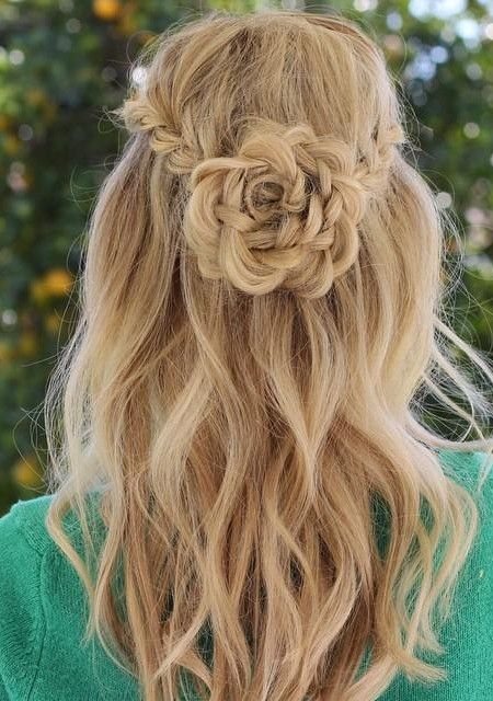 Bridal hairstyle with rose : Best 20 Flower braids ideas on Pinterest braid hair