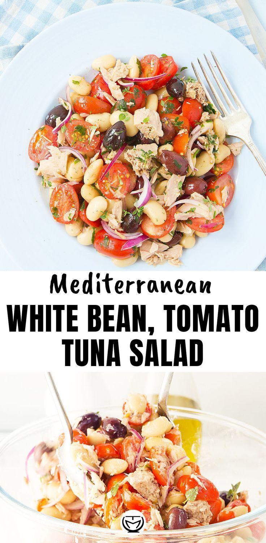 Mediterranean bean and tuna salad