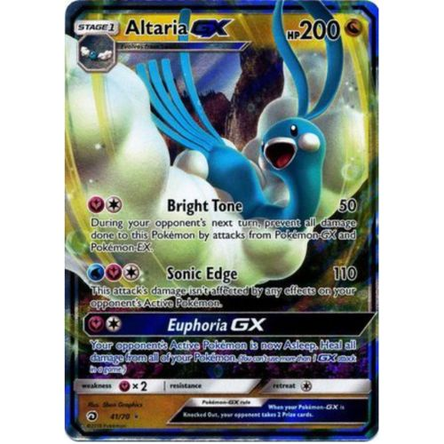 Ultra Rare Near Mint Pokemon Card Full Art Altaria GX 68//70 Dragon Majesty