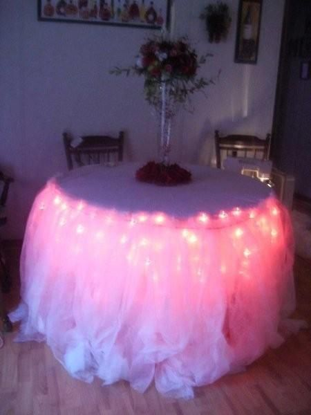 A Easy Skirting For The Cake Table Wedding Diy 003