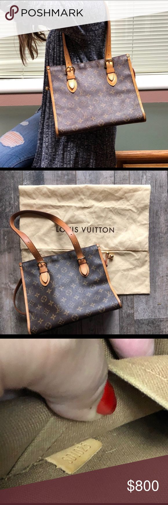 Authentic Louis Vuitton Bag!!! Authentic LV bag with strap.  Very good condition.  As seen in photos.  A little tear in the left corner of the purse.  Regular wear with very light damages from wear.  Great for everyday use.  A lot of room.   9x10x11 Louis Vuitton Bags Shoulder Bags