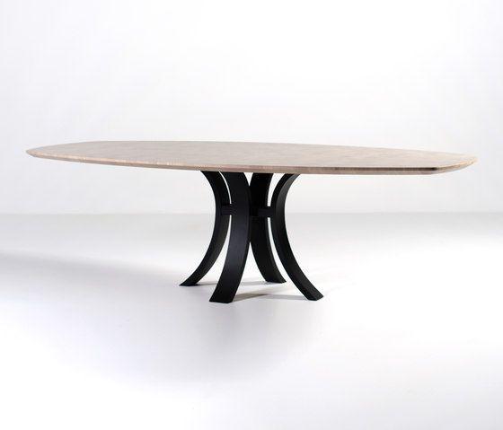 Kops slim dining table semi-oval by Van Rossum | Dining tables