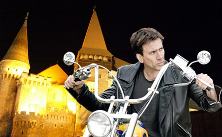 Nicholas Cage, Ghost Rider at the Corvin Castle.