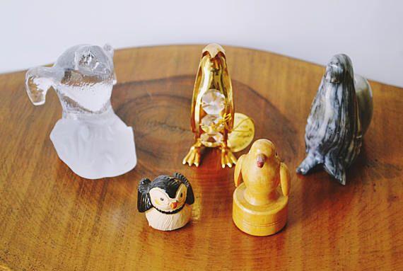 Penguin Collection Miniature Penguins Onyx Penguin Pen
