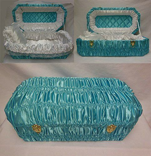 34 In.-Elegant Eco-friendly Infant / Pet Casket ,Baby Blue Wrapped. -- Continue to the product at the image link.