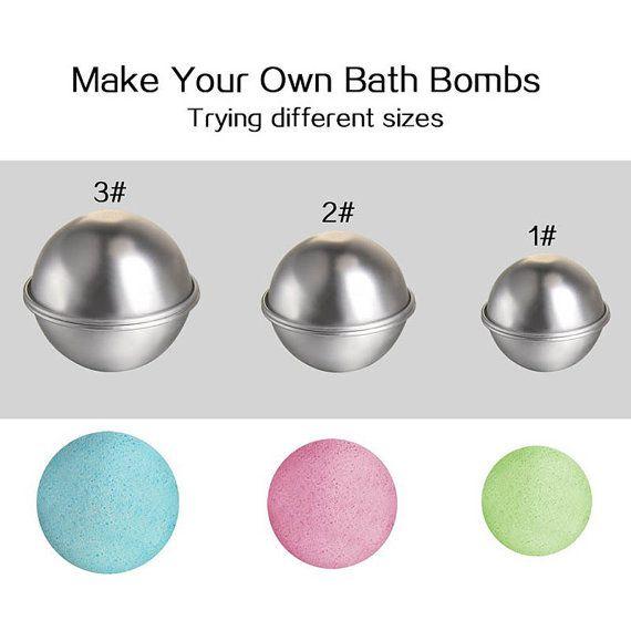 Bath Bomb Supplies, Bath Bomb Mold, Sphere Mold, Bath Fizzy Mold, Cake Mold, Stainless Steel, Round Mold, DIY Bath Bomb, Metal Mold
