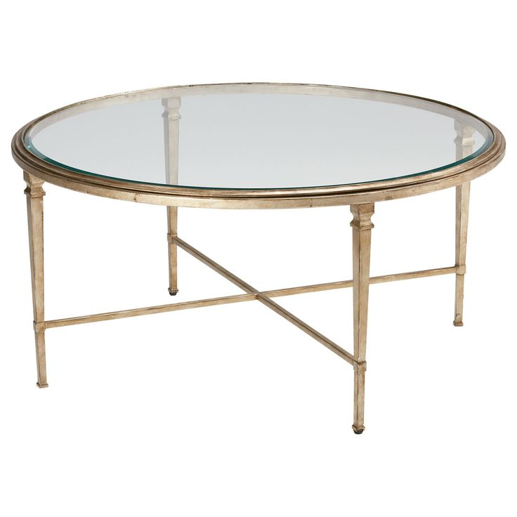Glass Top Coffee Table Ethan Allen: Silver Home Decor. Heron Round Coffee Table