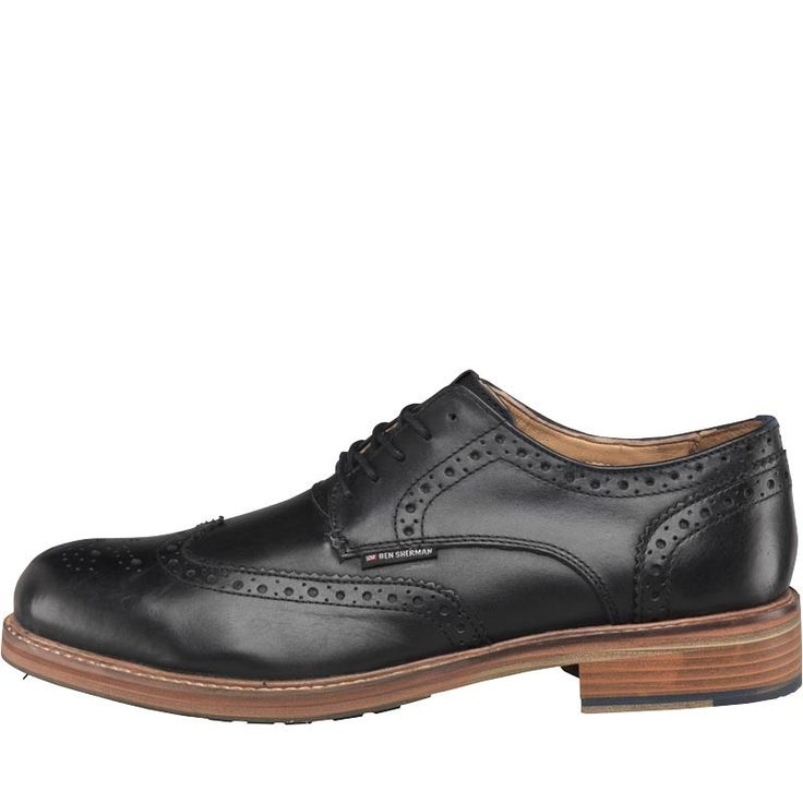 Ben Sherman Mens Patrick Brogue Shoes Black Ben Sherman leather lace-up shoes with a punched out brogue detailed upper. http://www.MightGet.com/february-2017-2/ben-sherman-mens-patrick-brogue-shoes-black.asp