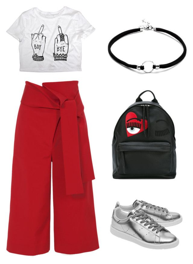 clear winter day outfit by justyna-kowalcze on Polyvore featuring moda, TIBI, adidas Originals and Chiara Ferragni