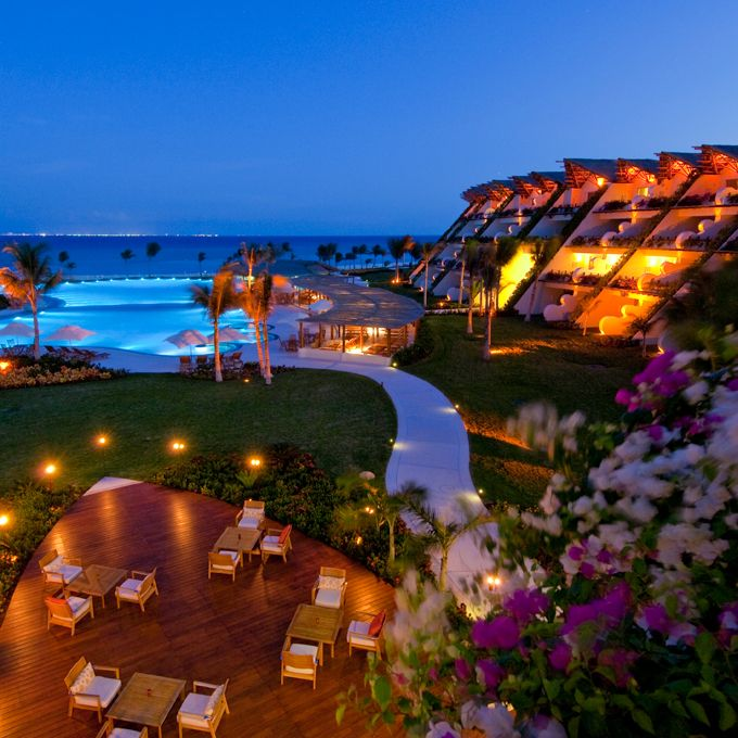 Brides.com: Top 10 All-Inclusive Resorts. 1. Grand Velas    With resorts in Puerto Vallarta, Riviera Nayarit, and Riviera Maya, this Mexican all-inclusive chain has a rep for amazing service and seriously mind-blowing spas. Casa Velas, a boutique outpost in Puerto Vallarta, is adults only, while Grand Velas Riviera Maya has an adults-only wing (children 12 and over are allowed); Grand Velas.