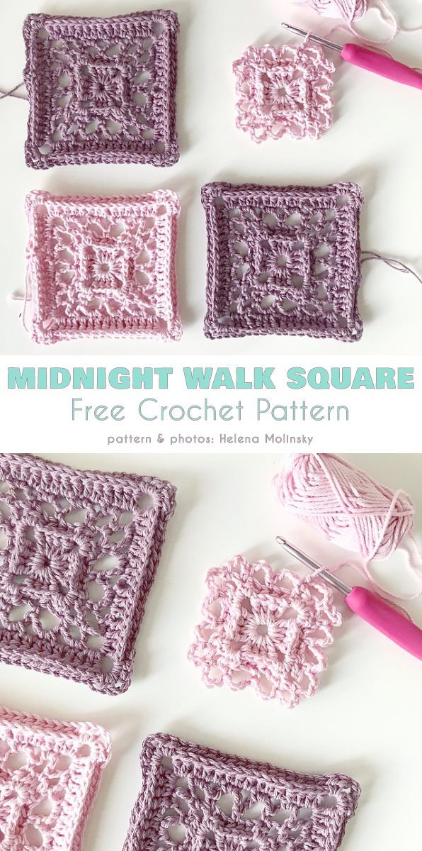 Midnight Walk Square Free Crochet Pattern