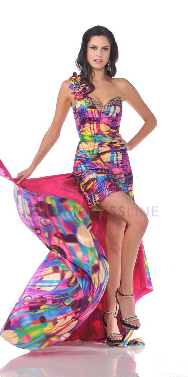 Detachable Train Cocktail Dress