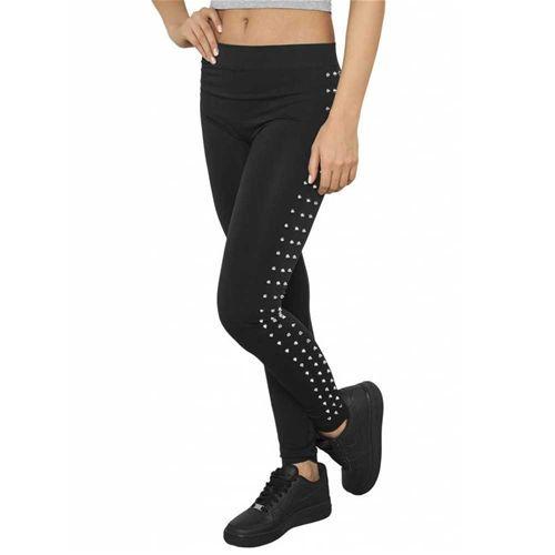 Dames legging met studs detail zwart