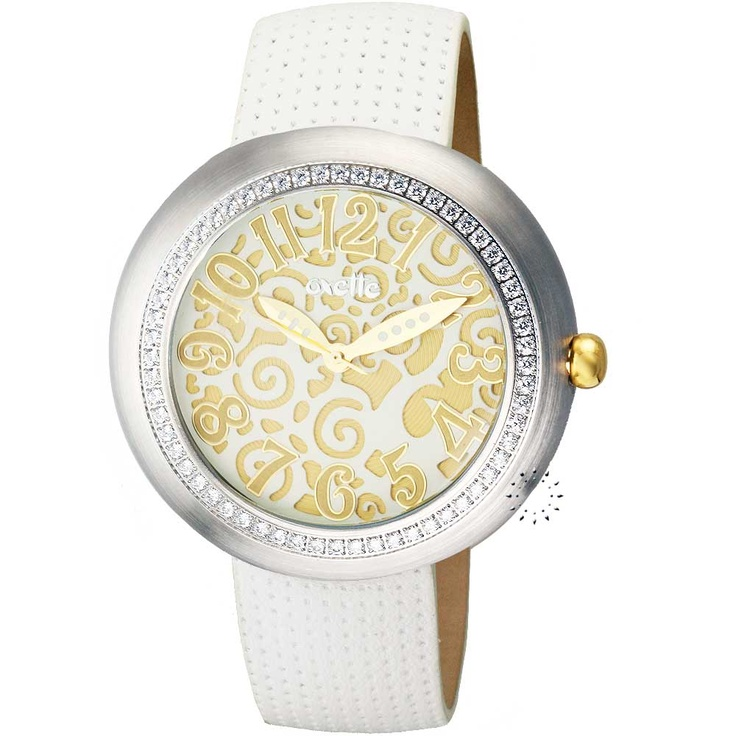 OXETTE Crystal White Leather Strap Μοντέλο: 11X0600374 Η τιμή μας: 157€ http://www.oroloi.gr/product_info.php?products_id=21439