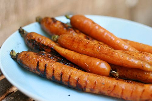 I like how these grilled carrots came out. I used the butter, balsamic and rosemary recipe. Saw a lot with honey too but carrots are sweet enough.