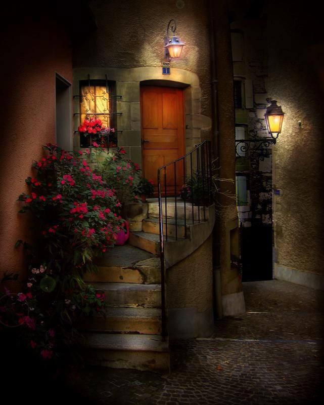 iluminated door