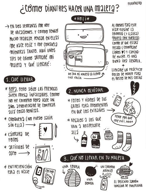¿Cómo hacer una maleta?