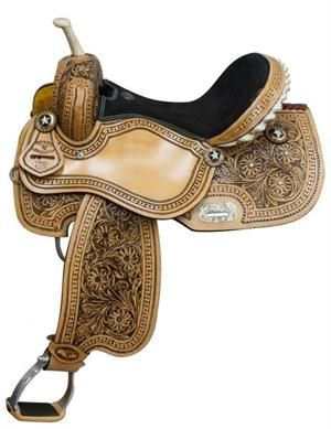 Double T Floral Barrel Saddle|Barrel Saddles for Sale
