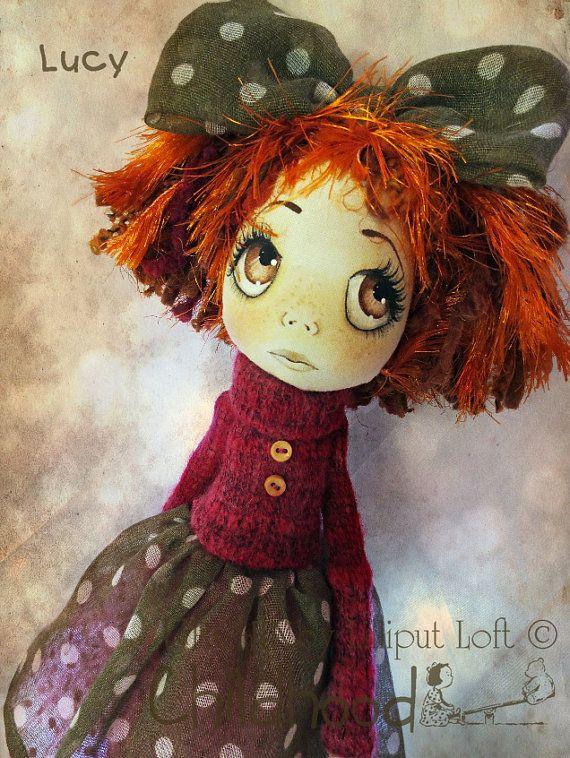OOAK Art Doll Lucy Urchin Childhood by lilliputloft on Etsy