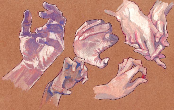 Resultado de imagem para hands gouache paint