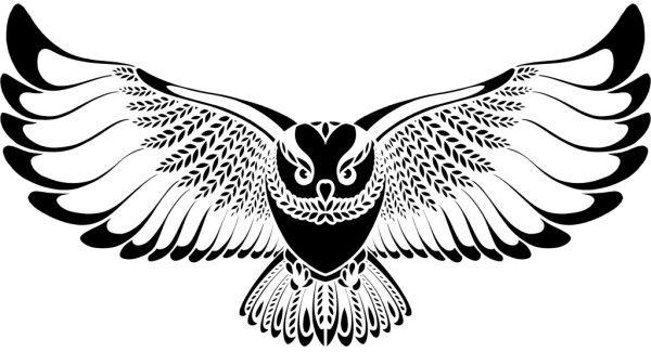 FMP FLYING OWL 300DPI black