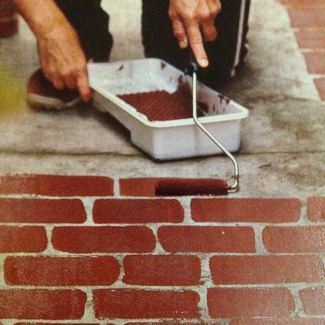 Roll On Faux Bricks-sweep, Prime With Concrete Resurfacer