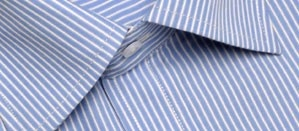 Full sleeve formal shirt in blue and white stripes. Designed for a versatile fit, this shirt defines corporate elegance. Its light and crisp look is perfect to wear to work and flatters every body type.     Style with:  Black or dark grey trousers or under a suit for a perfect formal look.