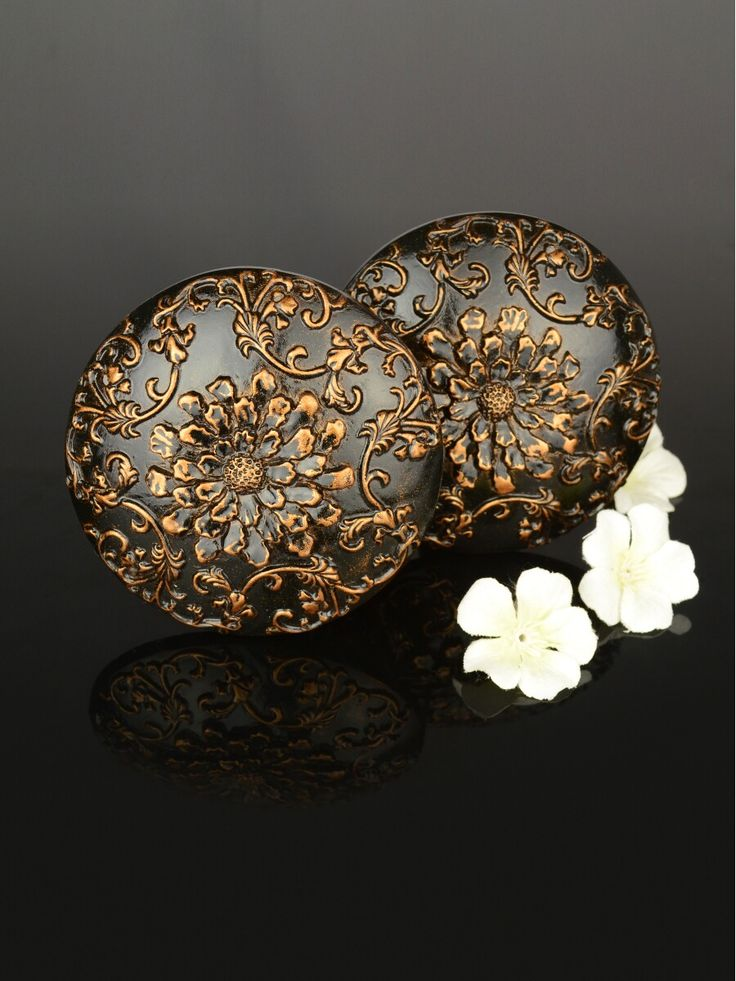 2 Colors QYN08 Curtain Tieback Holdbacks in Brown Color