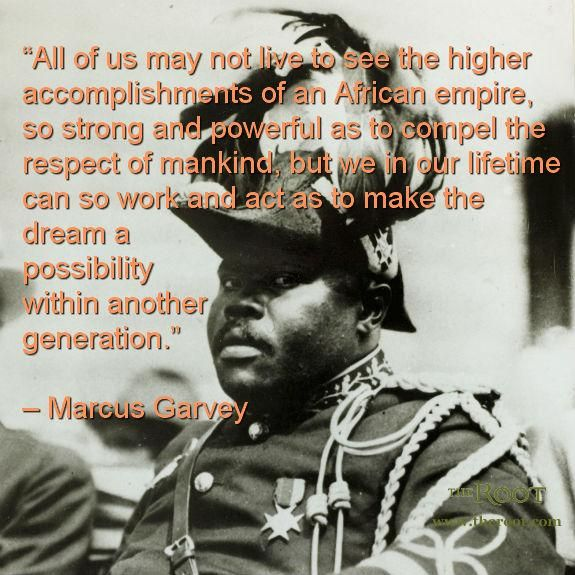 Best Black History Quotes: Marcus Garvey on Achievement