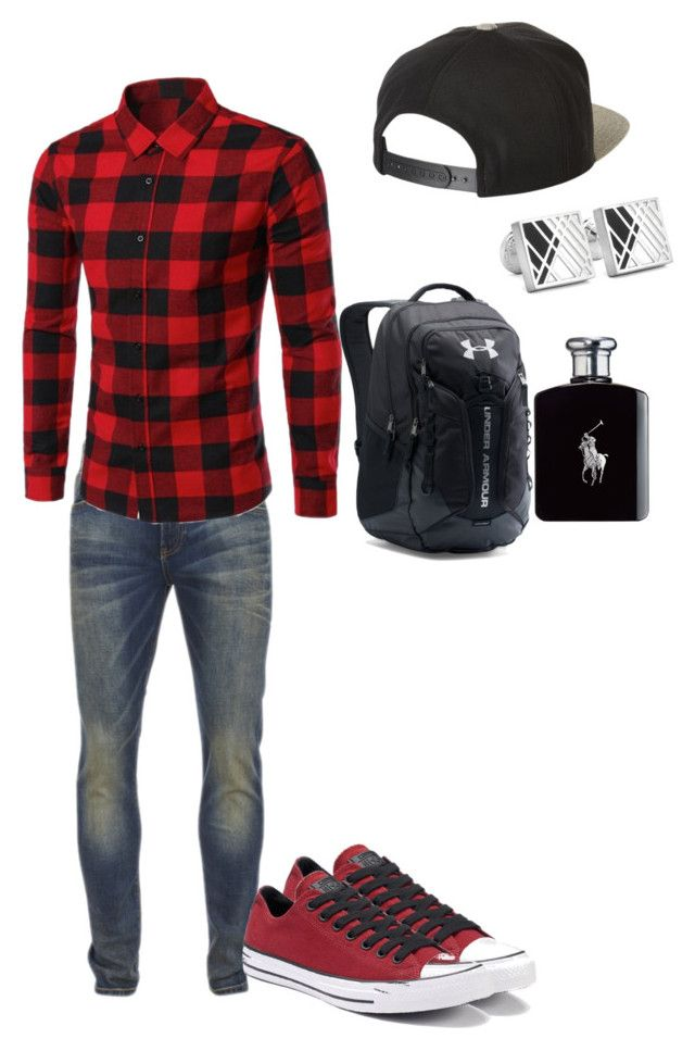 """school"" by dylanwalker-i on Polyvore featuring Brixton, Scotch & Soda, Robert Graham, Converse, Under Armour, Ralph Lauren, men's fashion and menswear"