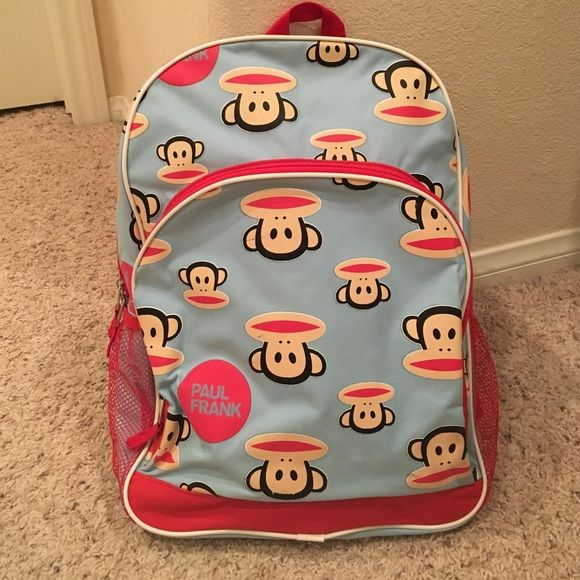 Brand new Paul Frank backpack Has a small tear (pictured), new Paul Frank backpack Paul Frank Bags Backpacks