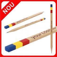 1 Decembrie, La multi ani Romania! Creion dreptunghiular, cu mina 6B. Viziteaza www.atip.ro