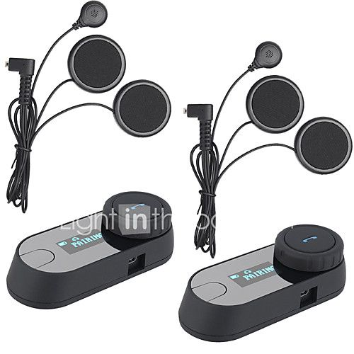 FreedConn TCOM-SC 2 Pcs BT Bluetooth Motorcycle Helmet Bluetooth Interphone LCD Screen FM Radio Soft Earphone - USD $108.99 ! HOT Product! A hot product at an incredible low price is now on sale! Come check it out along with other items like this. Get great discounts, earn Rewards and much more each time you shop with us!