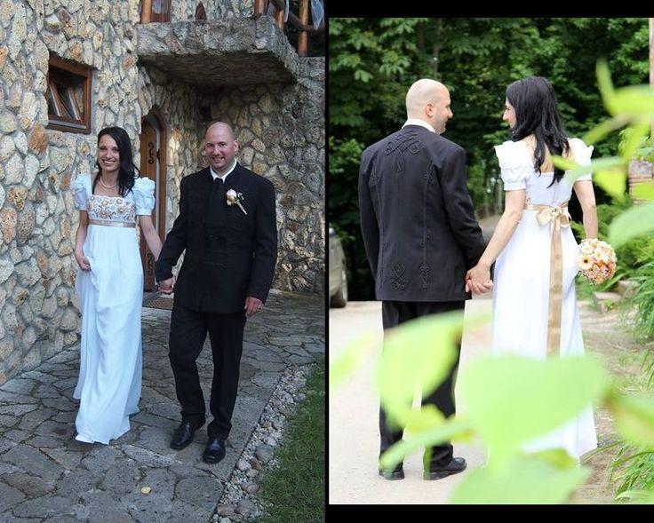 Matyó hímzéses menyasszonyi ruha