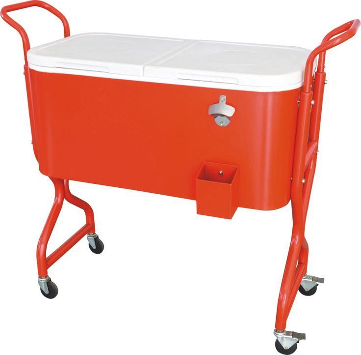 Steel Patio Deck Outdoor Bar Kitchen Cooler With Cart 80 Quart Capacity  From Jinhua Dongrun
