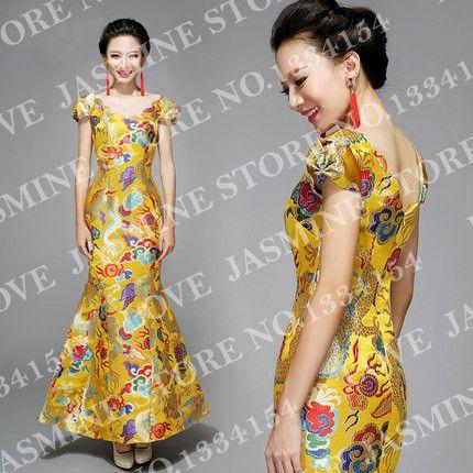 Купить товарСкидка   новый 2014 традиционный китайский улучшение с дракон вышитые невесты qipao в категории Свадебные платьяна AliExpress.          Добро пожаловать в любви жасмин платье магазин     Мы приветствуем каждого клиента искренне, запрос или покупки