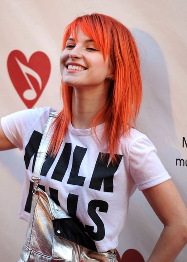 I love Hayley. I need this hair cut now. fun hair color when I'm out of the military lol