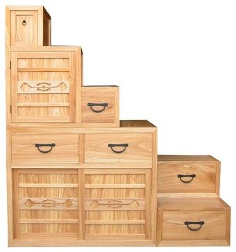 Step Tansu - Asian - Storage Boxes - San Francisco - Eastern Classics LLC