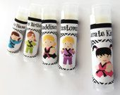 5 Pc Karate Party Favors/Girl Karate Party Favors/Party Favors/Girl Birthday Party/Lip balm/Karate Chapstick Party Favor/Karate Gift Bags