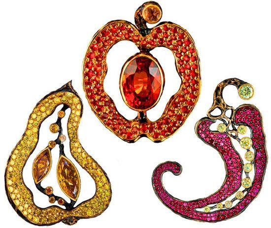 Новая коллекция от Jewellery Theatre: драгоценные фрукты для Микеланджело