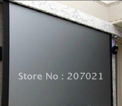 Лучшее качество 100inch16: 9 3D серебряный экран Моторизованный Проекционный экран Электрический проекционный экран с беспроводного пульта дистанционного управления