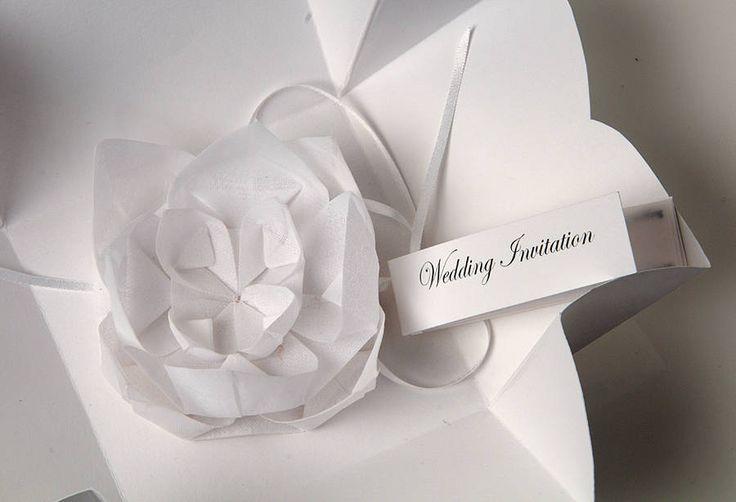Origami Lotus Flower Invitation
