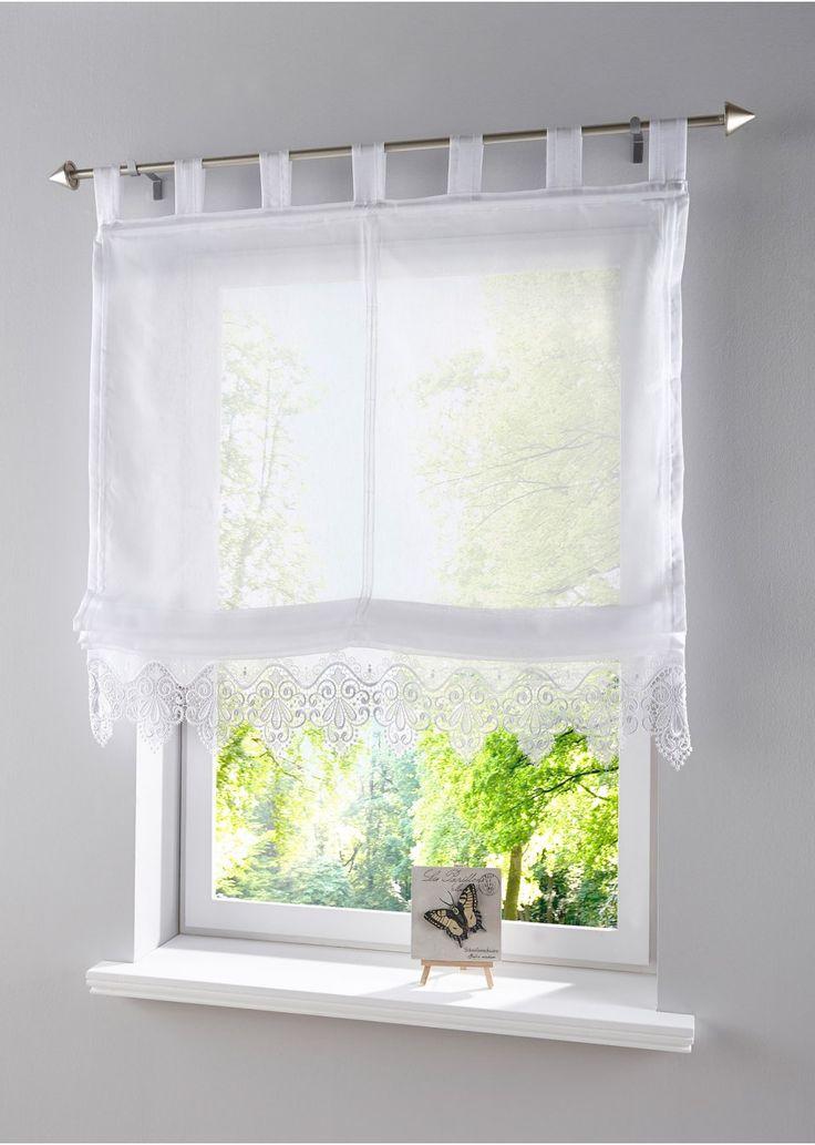 """Roman shade """"pizzo"""" bonprix.it Guarda qui:La decorazione in stile country per la tua finestra. Tenda in tessuto di batista trasparente con bordi ricamati a festoni e fondo in favoloso  pizzo macramè. Stupenda e facile da abbinare!"""