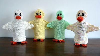Musings of the Puppet Lady: Knitting Pattern for Duck Puppet